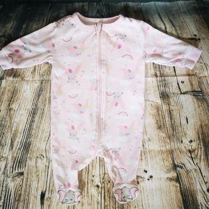 🐘 Dumbo Zip Up Sleeper - 0-3Months - Baby Girl
